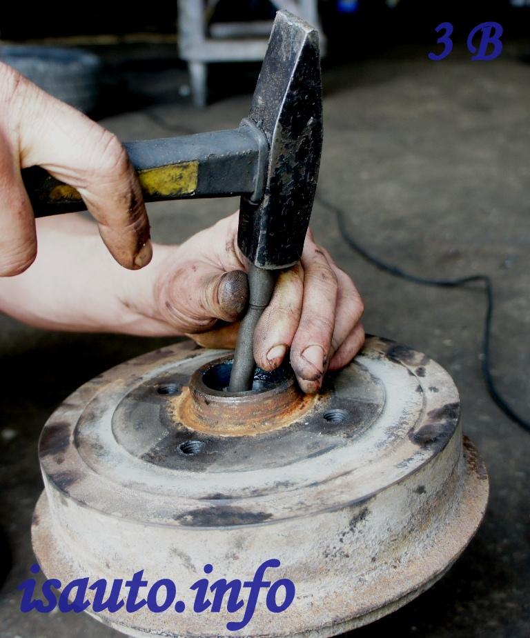 Замена подшипника передней ступицы ланос своими руками 21