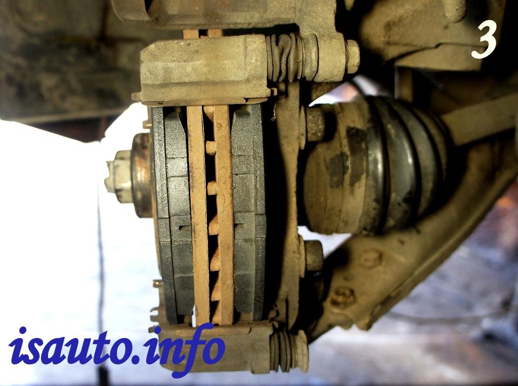 поменять передние тормозные колодки chevrolet lanos